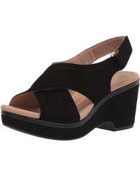 Clarks Giselle Coast Wedge Sandal - Black