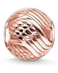 Thomas Sabo S-Bead Aile D'Ange Karma Beads Argent Sterling 925 plaqué or rose 18 carats couleur or rose K0225-415-12 - Métallisé