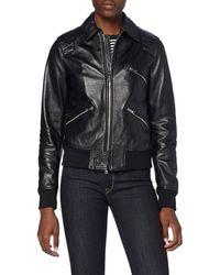 Replay W7586 .000.83706 Leather Jacket - Black