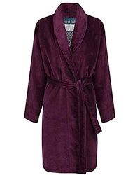 Ted Baker Dawlish Cotton Towelling Dressing Gown Deep Purple