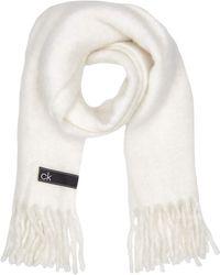 Calvin Klein K60k606172 Set sciarpa - Bianco