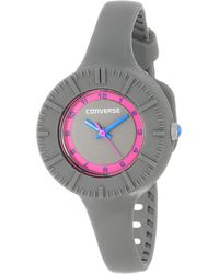 Converse Vr023075 The Skinny Round Grey Analog Dial With Grey Silcone Case And Strap Watch