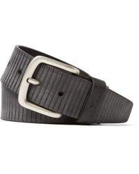 Tom Tailor Fashion Leather Belt 4.0 W85 Black - Schwarz