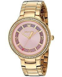 Juicy Couture - 'catalina' Quartz Tone And Gold Plated Casual Watch(model: 1901573) - Lyst
