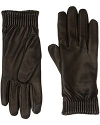Calvin Klein Leather Gloves Gants - Noir