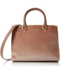 Dorothy Perkins S Blush Velvet Pipe Tote Bag Tote Pink