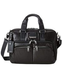"Tumi Alpha Bravo Albany Slim Commuter Leather Brief 14"" Mallette, 37 cm - Noir"