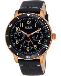 Guess Reloj Analógico para Hombre de Cuarzo con Correa en Cuero W1169G2 - Marrón