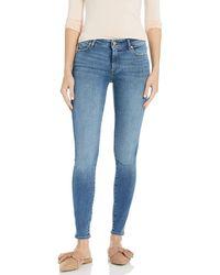 The Drop Venice Jean skinny taille haute pour - Bleu