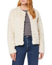 Vero Moda VMBROOKLYN Faux FUR Short Jacket BOOS Jacke - Natur