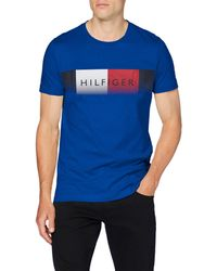 Tommy Hilfiger Th Cool Hilfiger Fade Tee Chemise - Bleu