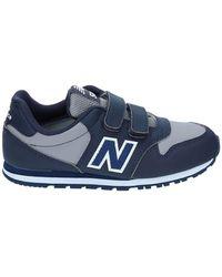 New Balance Chaussures DE Sport Double Velcro MODÈLE 500 KV500VBY Navy/Gris Taille: 38 - Bleu