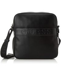 Guess Dan Mini Crossbody FlathommeNoir