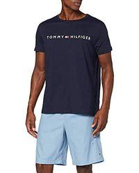 Tommy Hilfiger CN SS Short Woven Set Bas De Pyjama - Bleu