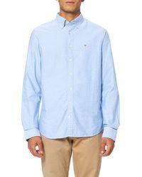 GANT Slim Oxford Bd Shirt - Blue