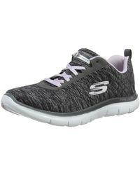 Skechers Flex Appeal 2.0 Sneaker Donna, Nero (Black/Lavender Bklv) 40 EU