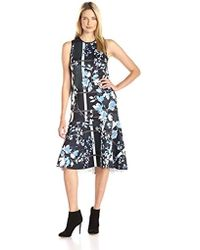 Clover Canyon - Sportswear Fall Leaves Neoprene Dress - Lyst