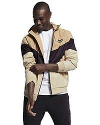 Nike S HD GX Windrunner Hooded Track Jacket (Desert/Burgundy Ash/Desert Ore, X-Large) - Neutre