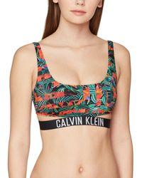 Tommy Hilfiger Strap Bralette-RP-Print Reggiseno Bikini - Multicolore