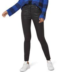 FIND Animal Print Coated Jeans Skinny - Nero