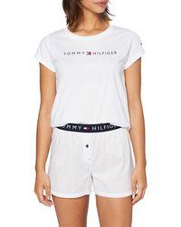 Tommy Hilfiger Woven Boxer Set SS Bas De Pyjama - Blanc