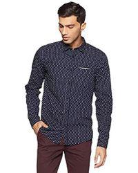 Scotch & Soda - Regular Fit Classic Shirt with Chest Pocket, Fixed Pochet An, Camicia Uomo, Multicolore (Combo B 0218), Medium - Lyst