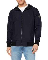 Calvin Klein Hooded Blocking Nylon Jacket Chaqueta Bomber - Azul