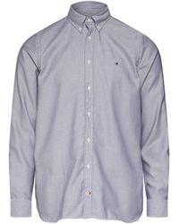 Tommy Hilfiger Slim Essential Dobby Shirt Camisa - Blanco