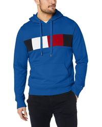Tommy Hilfiger - Flag Chest Insert Hoody Sweatshirt - Lyst