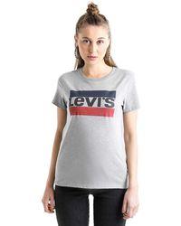 Levi's T-shirt In Jersey Di Cotone - Grigio
