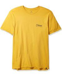 Rip Curl Velzy Land Heritage Tee Shirt - Yellow