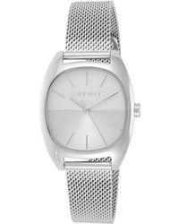 Esprit Analog Quarz Uhr mit Edelstahl Armband ES1L038M0075 - Mettallic