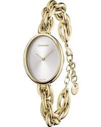 Calvin Klein Statement K9Y23526 Montre Bracelet pour femmes - Métallisé