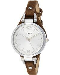 Fossil Georgia Quartz Leather Casual Watch - Multicolor