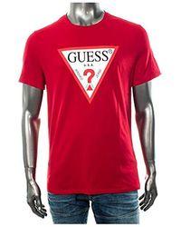 Guess ORIGINAL hommes T-shirt en rouge