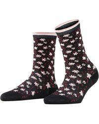 Esprit Romantic Flower Calcetines - Negro