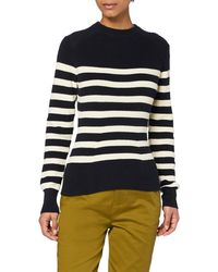Scotch & Soda Knitted Pullover with Breton Stripe Pattern - Multicolore
