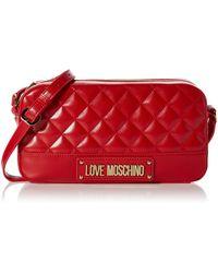 Love Moschino Borsa Quilted Nappa Pu Umhängetasche - Rot