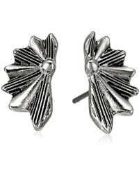 Sam Edelman - Etched Fan Stud Earrings - Lyst