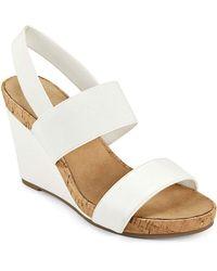 Aerosoles Putnam Wedge Sandal - White