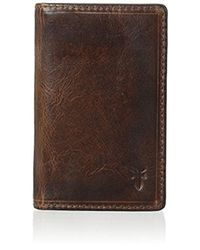 Frye - Logan Small Antique Pull-up Wallet - Lyst