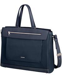 Samsonite Zalia Bailhandle Briefcase - Blue