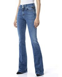 Replay Newluz Flare Jeans - Blue