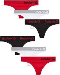 Reebok Nylon/Spandex Seamless Thong Underwear - Mehrfarbig