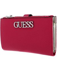 Guess Uptown Chic SLG DBL Zip Org - Rouge