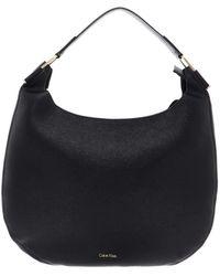 Calvin Klein Arch Hobo Bag Black