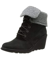 Timberland Amston Roll Top Ankle Boots - Black