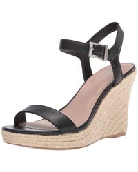Charles David Womens Wedge Sandal Platform - Black