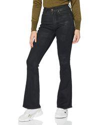 G-Star RAW 3301 High Waist Flare Skinny Jeans - Nero