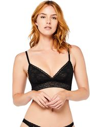 Iris & Lilly Bralette in Pizzo Soft Lace - Nero